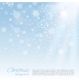 Christmas background with snowflakes vector image