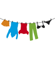 clothes hanging on a clothesline vector image