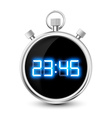 digital stopwatch with blue numerals isolated on vector image