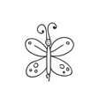 Doodle butterfly animal icon vector image