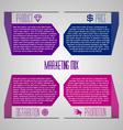 Editable modern template - marketing mix 4P vector image