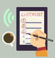 journal with checklist - organize vector image