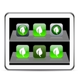 Leaf green app icons vector image