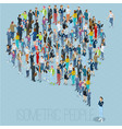people crowd comment speech bubble vector image