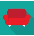 red armchair vector image