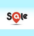sale pin logo vector image