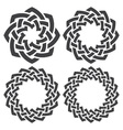 Set of celtic knotting rings 4 circular decorative vector image