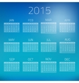 Summer Gloss Calendar 2015 background vector image