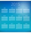 Summer Gloss Calendar 2015 background vector image