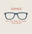 summer sunglasses in vintage style on sand vector image