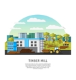 Timber Factory Template vector image