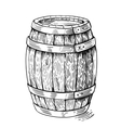 wood barrel vector image