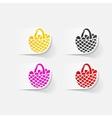 realistic design element easter basket vector image