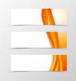 Set of orange banners vector image