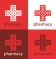 Red medicine logo vector image