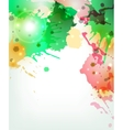 Abstract artistic Background forming by blots vector image vector image