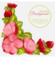 Floral watercolor frame with wreath of peony vector image