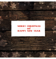 xmas design on hardwood planks texture vector image vector image