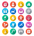 Christmas flat color icons vector image vector image