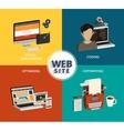 Website building vector image vector image