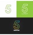 Number five 5 logo design icon set background vector image