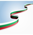 Bulgarian flag background vector image vector image
