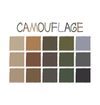 Camouflage Color Tone without Name vector image