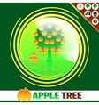 Apple orchard logo design vector image