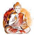bddha hand drawn grunge style art vector image