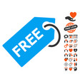 free tag icon with love bonus vector image