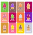 ice cream icons flat set vector image