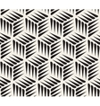 Seamless Black and White Thorn Shape Cubic vector image