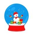 snow globe snowman vector image