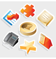 Sticker icon set for business symbols vector image