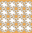 sunny seamless pattern cute doodle suns vector image
