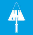 Construction trowel icon white vector image