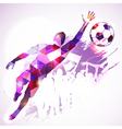 Soccer Goalkeeper vector image vector image