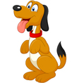 Dog Sitting Up vector image