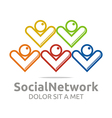 Logo Social Network People Colorful Design Symbol vector image