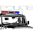 Beacon police officer vector image