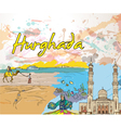 hurghada doodles vector image vector image