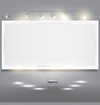 Empty white banner for product advertising with vector image vector image
