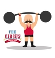 Weight lifting icon Circus and Carnival design vector image
