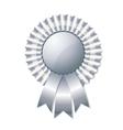 Silver rosette vector image