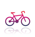 bicycle icon over white vector image