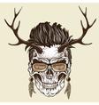 Hipster skull of human vector image