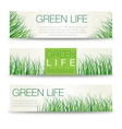 horizontal eco banners abstract meadow vector image