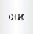 logotype x letter x sign black logo vector image