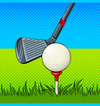 putter and golf ball door pop art vector image