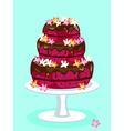 Red velvet cake card vector image